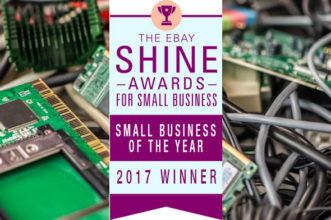 Winner of Ebay Shine Awards For Small Business